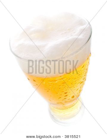 Beer On Tall Glass