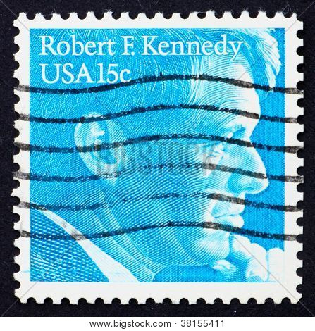 Postage stamp USA 1979 Robert F. Kennedy U.S. Attorney General