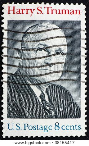 Postage stamp USA 1973 Harry S. Truman