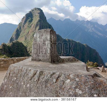 Intiwatana Stone At Machu Picchu