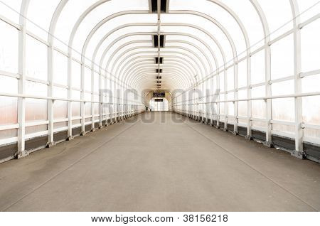 Hallway with bright light angle shot