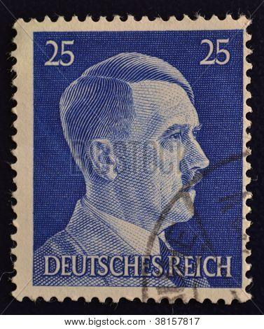 German postage stamp Adolf Hitler