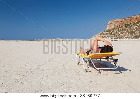 Woman Alone On The Beach 5