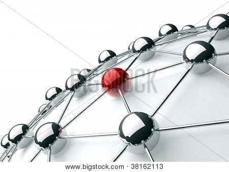 Netzwerk- und Internet-Konzept