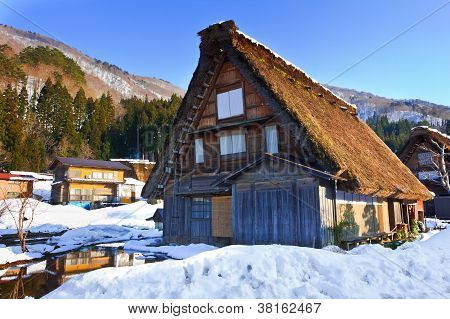 Cottage at Ogimachi Village Shirakawago