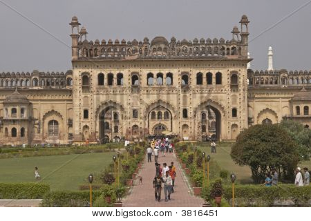 Tourists At The Bara Imambara