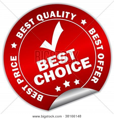 Vector best choice sticker