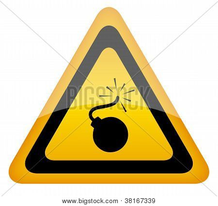 Bomb warning sign