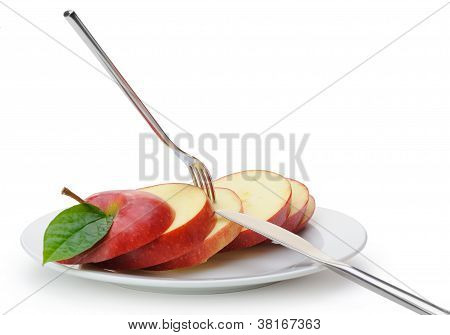 Apple Sliced Sections