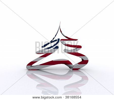 American Christmas tree - 3D