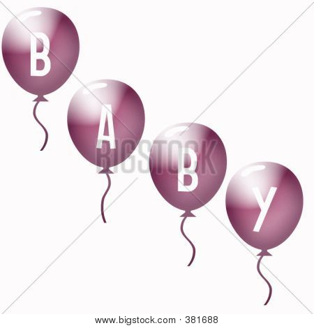 Baby Balloons Pink