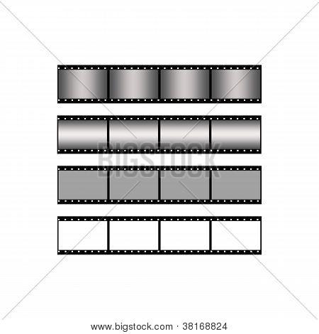 set blank film strip background