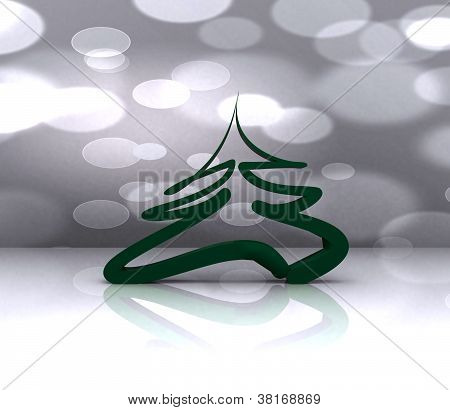 Colorful background with Christmas tree - 3D