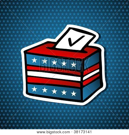 Usa Elections Ballot Box
