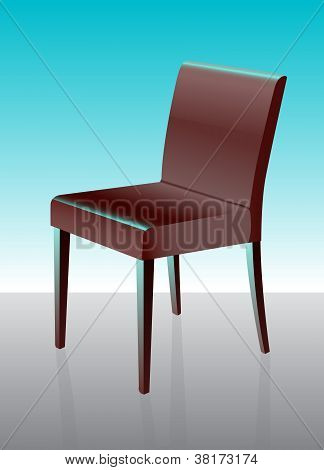 Modern Dining Chair Red