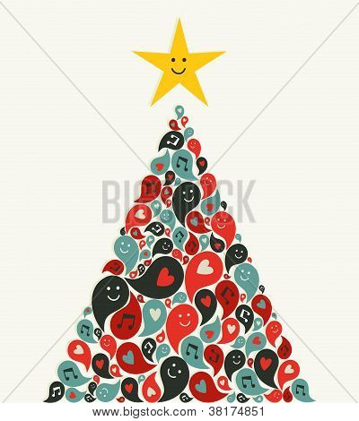 Christmas Multimedia Music Tree Greeting Card