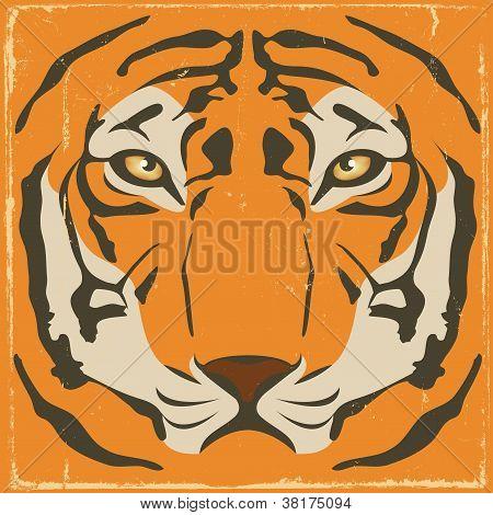 Vintage Tiger Stripes On Grunge Background