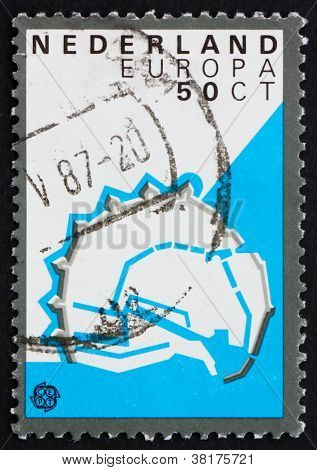 Postage stamp Netherlands 1982 Enkhuizen, Fortification Layout