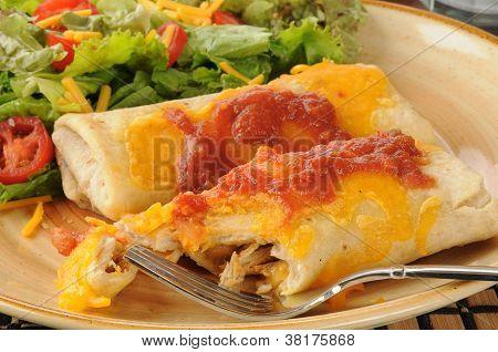 Huhn und Käse chimichangas