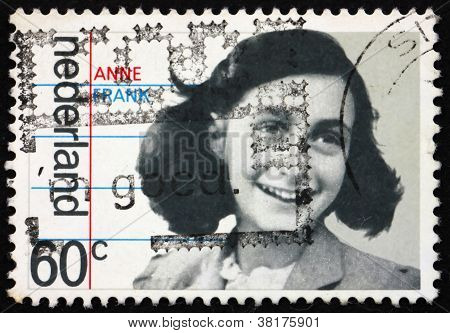 Postage stamp Netherlands 1980 Anne Frank, victim of the Holocau