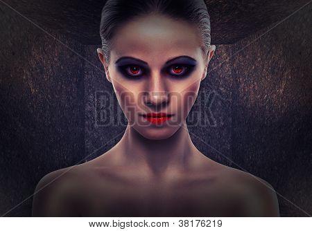 Mujer A bruja, mal. Halloween