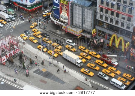 Looking Out Onto Times Square