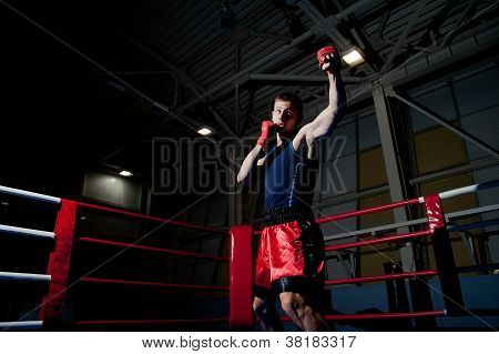 Man Boxing In Gym