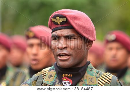 Quito, ECUADOR- MAY 24: National millitary parade