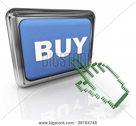 3D Buy Button And Pointer