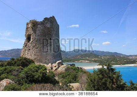 The saracen Tower, Villasimius