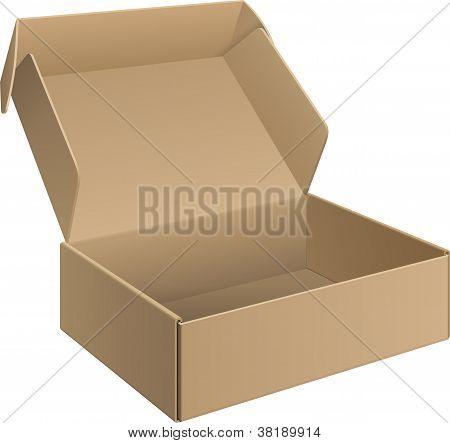 Cartulina de paquete caja abierta
