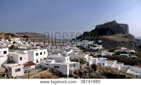 Lindos on Greek Island of Rhodes