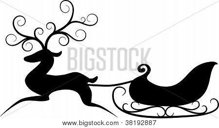 Reindeer And Sleigh.eps