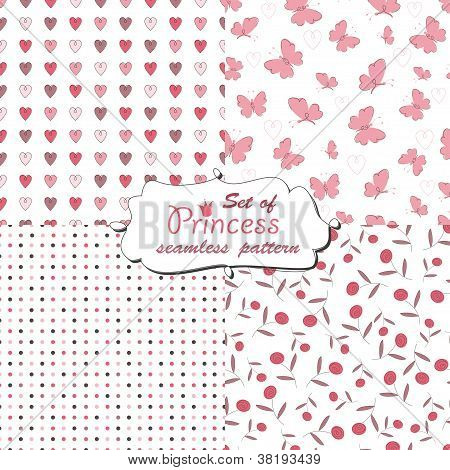 Seamless pattern for little princess