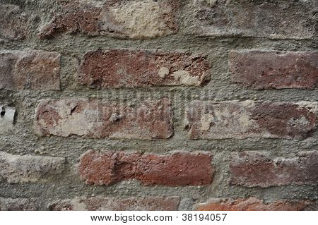 Red Brick Stone Wall