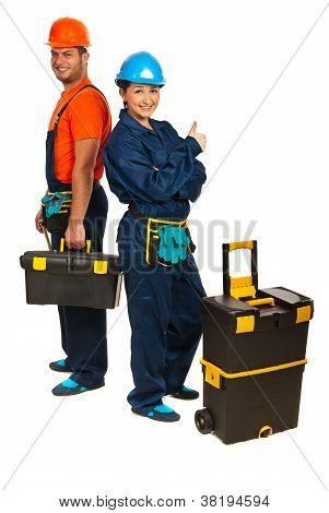 Successful Team Of Builders