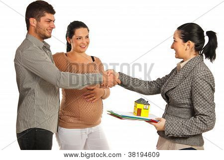 Pregnant Couple Buying New House