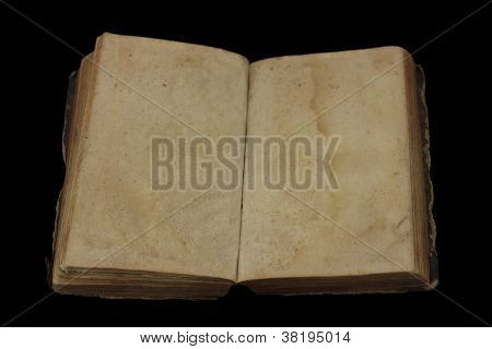 ancient open book with empty page
