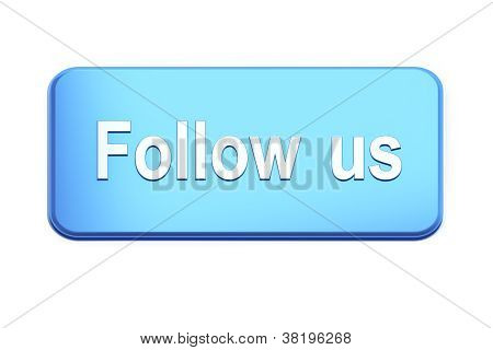 Blue  button with Follow Us text