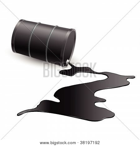 Barrel with black liquid
