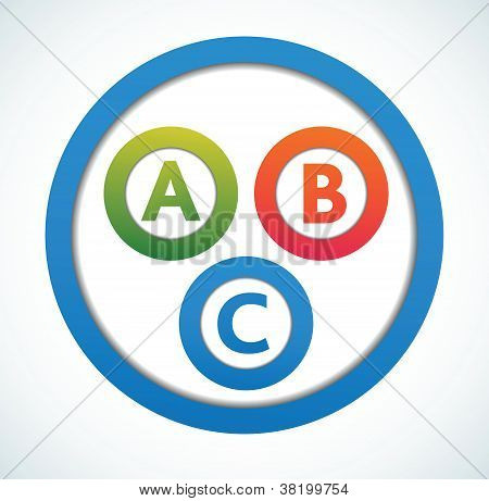 Multicolored presentation color circles template