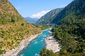 picture of gang  - Ganges river in Himalayas mountains - JPG