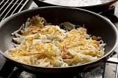 foto of hash  - Fresh Homemade Hash Browns to eat for breakfast - JPG