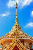 foto of crematory  - Buddhist crematorium in Thai temple, Udornthani, Thailand ** Note: Slight graininess, best at smaller sizes - JPG