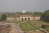 pic of imambara  - Landscaped gardens inside the 18th Century Bara Imambara complex in Lucknow Uttar Pradesh India - JPG