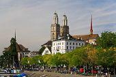 The Major Landmarks Of Zurich Cityscape poster