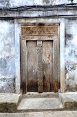 Typical Old Wooden Door In Stone Town - Zanzibar