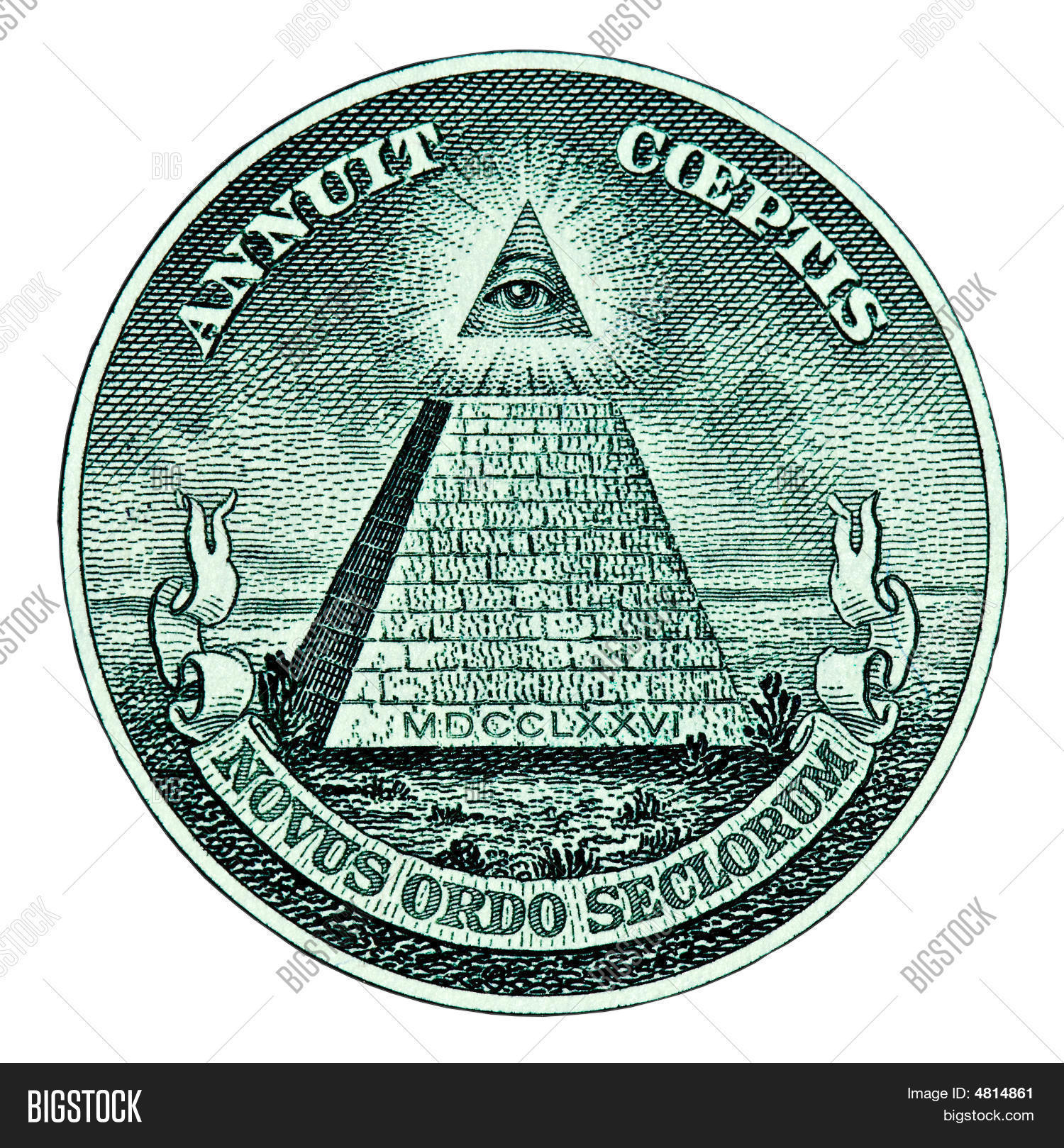 Pyramid On One Dollar Bill Stock Photo Amp Stock Images