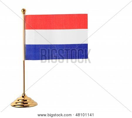 Netherlands Flag Isolated On White Background