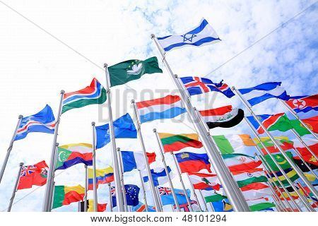 Israel And British Commonwealth Flags